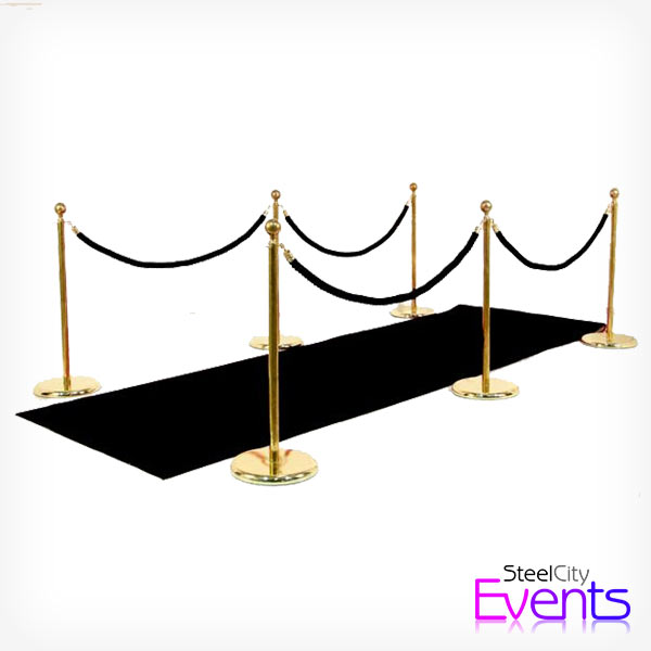 Black & Gold Gatsby Carpet Entrance