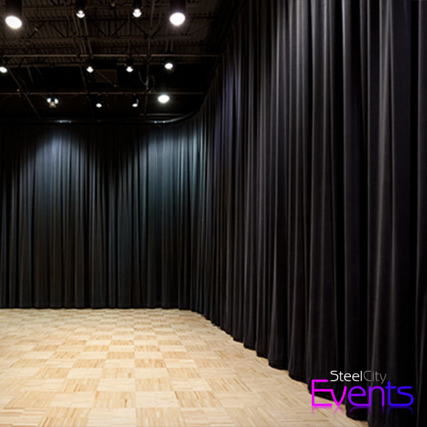 Black Cloth Wall Draping