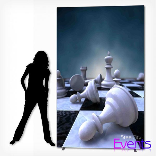 Giant Chess Piece Feature Backdrop
