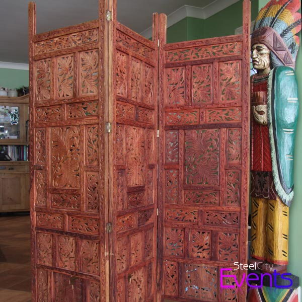 Hardwood Hand Carved Wooden Screen