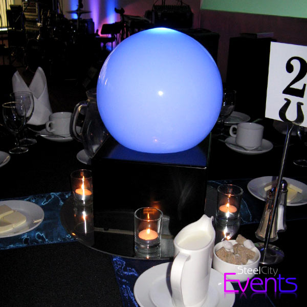 Illuminated Frosted Dome Table Centre Piece