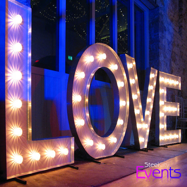 Illuminated LOVE Sign