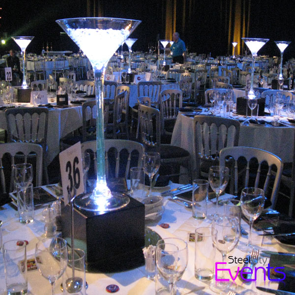 Illuminated Acrylic Candelabra Table Centre Piece