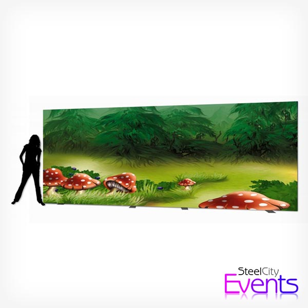 Large 6m Toadstool Backdrop