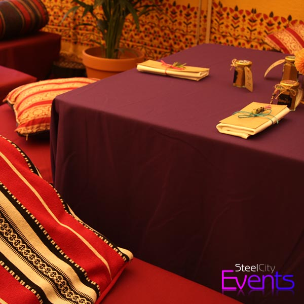 Low Level Ottoman Style Table Covers