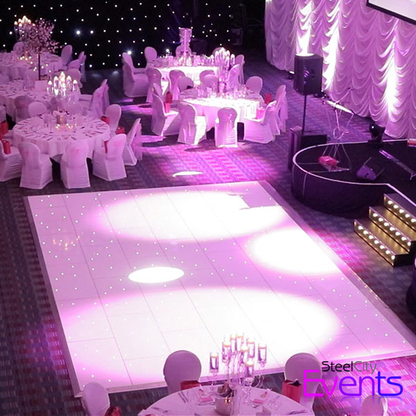 White Star Light Dance Floor