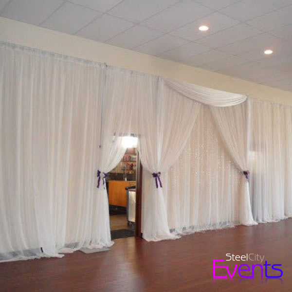 White Cloth Wall Draping